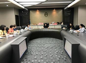 เข้าร่วมประชุมคณะกรรมการดำเนินงานจัดทำข้อมูลกลุ่มที่ 2 ด้านวิทยาศาสตร์และเทคโนโลยี เพื่อเตรียมความพร้อมของข้อมูลก่อนการเข้าร่วมการรับฟังการบรรยาย