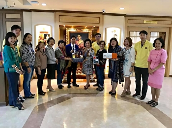 Dean of the College of Nursing and Health, Suan Sunandha Rajabhat University along with the college's committee met with the president of SSRU to wish him happy holidays