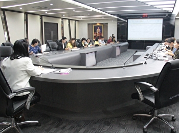 Nursing and Health College personnel join Institute for Research and Development organized meeting for reviewing R2R proposal 2562
