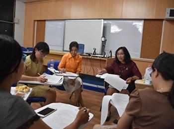 วิทยาลัยพยาบาลและสุขภาพ จัดโครงการเพิ่มประสิทธิภาพการจัดการเรียนการสอน : การประชุมเพื่อพิจารณาข้อสอบรายวิชาทางการพยาบาลประจำภาคเรียนที่ 2 ปีการศึกษา 2561