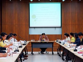 รองคณบดีวิทยาลัยพยาบาลและสุขภาพ เข้าร่วมการประชุมคณะกรรมการบริหารกองทุนพัฒนานักศึกษา