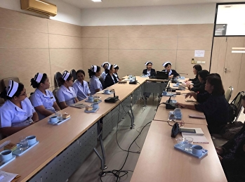 Lecturer College of Nursing and Health Attending a meeting with the nursing department Ban Phaeo Hospital