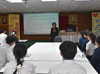 โครงการพัฒนาศักยภาพแกนนำนักศึกษาพยาบาล เพื่อสร้างสังคมไทยปลอดบุหรี่ ให้กับนักศึกษาชมรมนักศึกษาพยาบาล