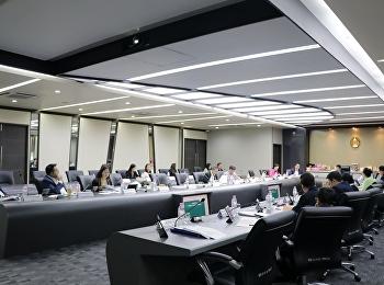 คณบดีวิทยาลัยพยาบาลและสุขภาพ เข้าร่วมประชุมสภาวิชาการ ครั้งที่ 8/2562