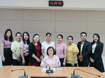 College of Nursing and Health Personnel Attend a meeting on Knowledge and Understanding (KM) Student Development Group