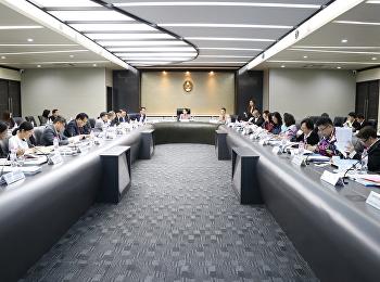 การประชุมคณะกรรมการบริหารมหาวิทยาลัย (กบม.) ครั้งที่ 9/2563
