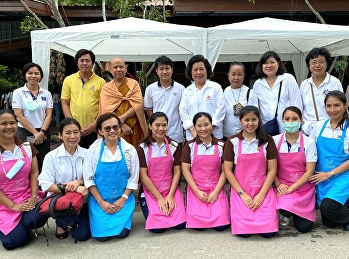 College of Nursing and Health Suan Sunandha Rajabhat University Organized a project to promote graduates quality in the integration of nursing knowledge: health services and public spiritual practice at Wat Pa Sapthawee Thammaram.