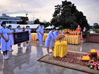 Phan Phum Laying Ceremony to pay homage to the royal princess On the National Nursing Day 2020