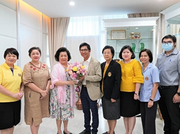 The Dean of the College of Nursing and Health led the Associate Dean, the lecturer in charge of the program. And head of the office College of Nursing and Health blesses the president of Suan Sunandha Rajabhat University Council On the occasion of the new
