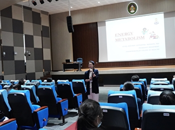 Lecturer of the Department of Physiology, Medical Education Unit Phramongkutklao College of Medicine Give honor to lecture and give knowledge For students in the Bachelor of Nursing Science program in the first year