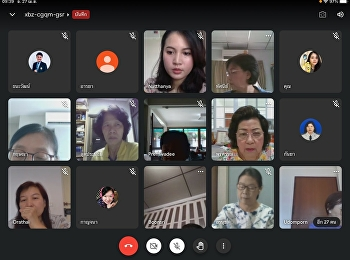 Teacher and staff meeting April 2021, Online type via Application Google Meet