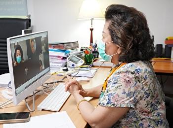 คณบดีวิทยาลัยพยาบาลและสุขภาพ มหาวิทยาลัยราชภัฏสวนสุนันทา เป็นประธานการประชุมกลุ่มวิชาเด็กและวัยรุ่น ผ่านระบบออนไลน์