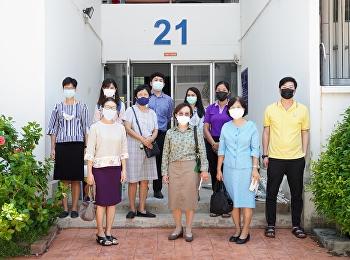 ผู้บริหารและบุคลากรวิทยาลัยพยาบาลและสุขภาพ มหาวิทยาลัยราชภัฏสวนสุนันทา เข้าตรวจสอบความเรียบร้อยของหอพักนักศึกษา