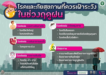 The Department of Disease Control issued a warning notification to the public to prevent disease and health hazards.